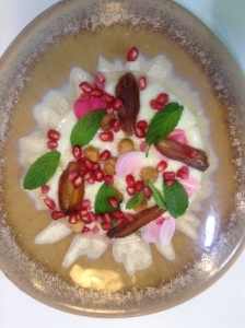 Labne-dates,-pomegranate,-hazelnuts-mint.