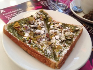 Morganstern's Pistachio and Marmalade on Toast