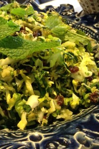 Cabbage-Salad-Raisins-Mint